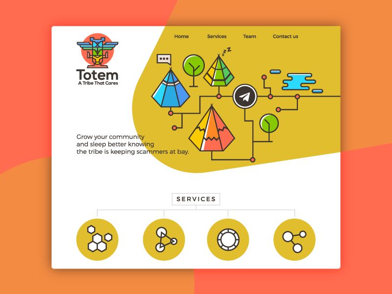 Totem logo and web design