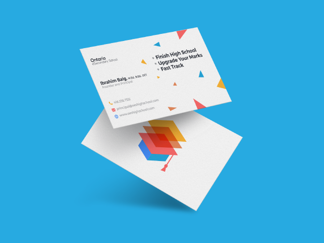 colorful logo and business card design