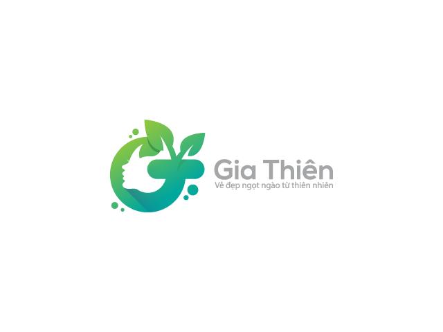 green Eco logo design face silhouette