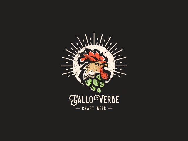 rooster logo for gallo verde craft beer