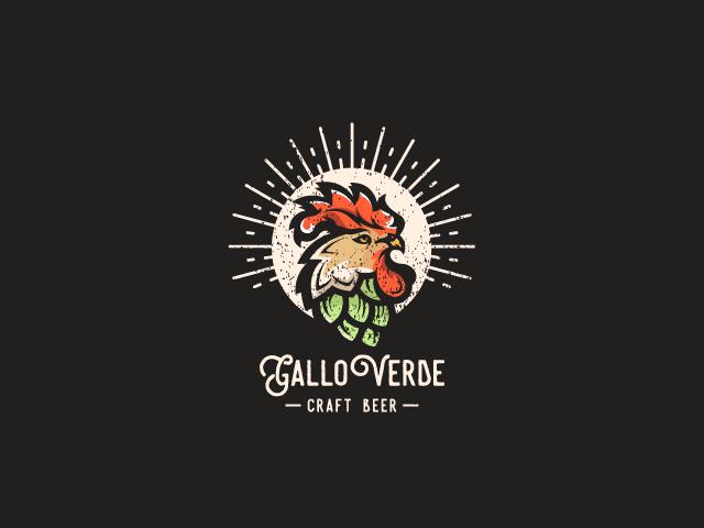 rooster logo for gallo verde craft beer