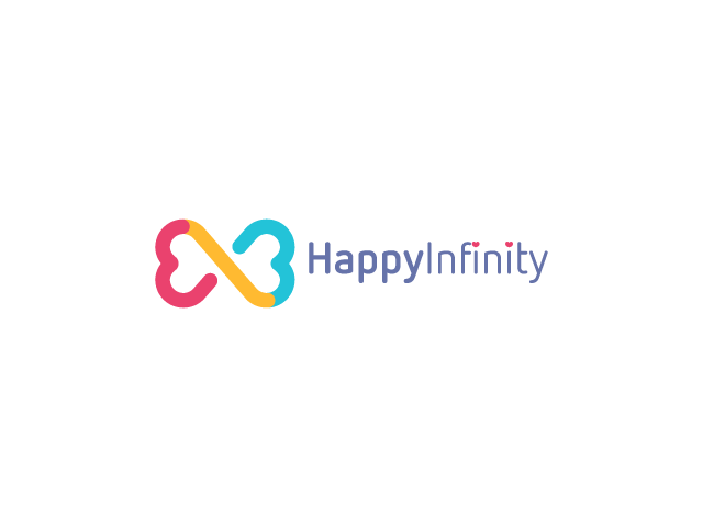 Infinity sign logo design colorful