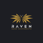 Raven logo design spread wings