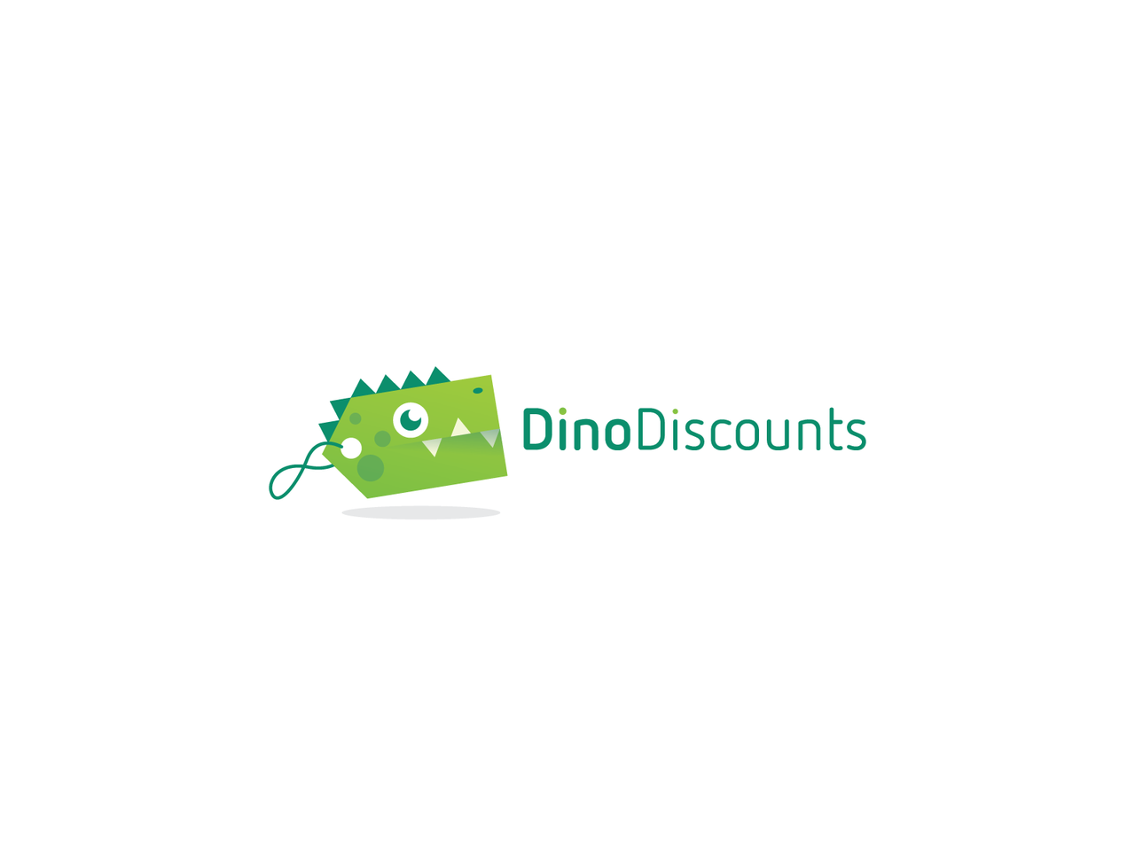 dinosaur logo green label