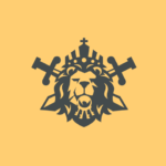 Lion with the crown crossed swords and keys