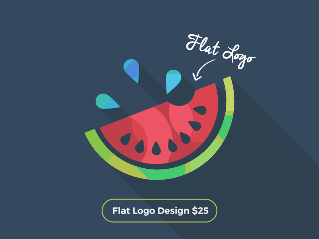 Watermelon flat logo