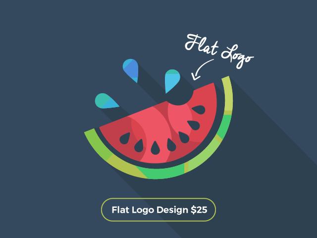 Watermelon flat logo