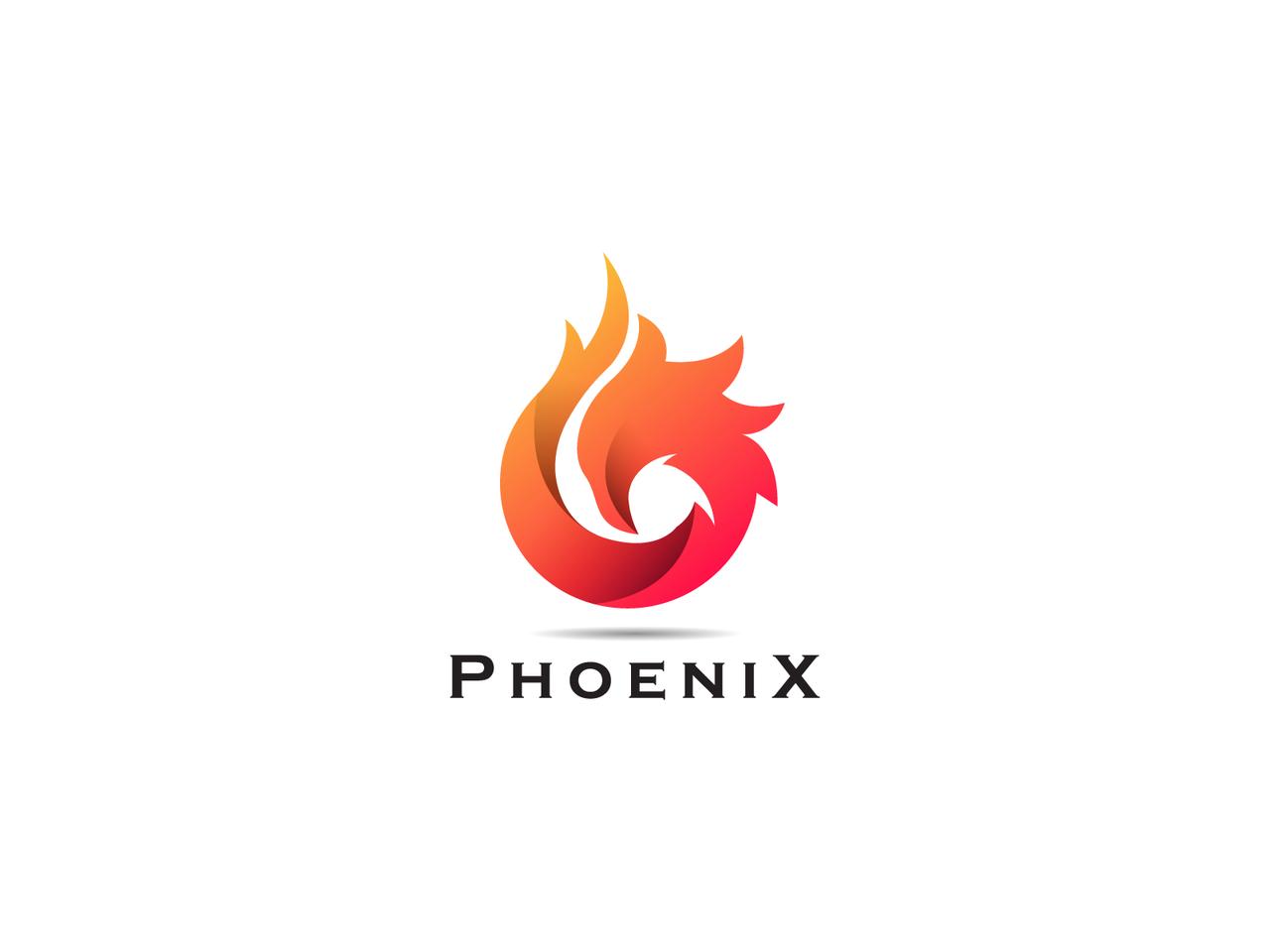 Phoenix gradient logo design