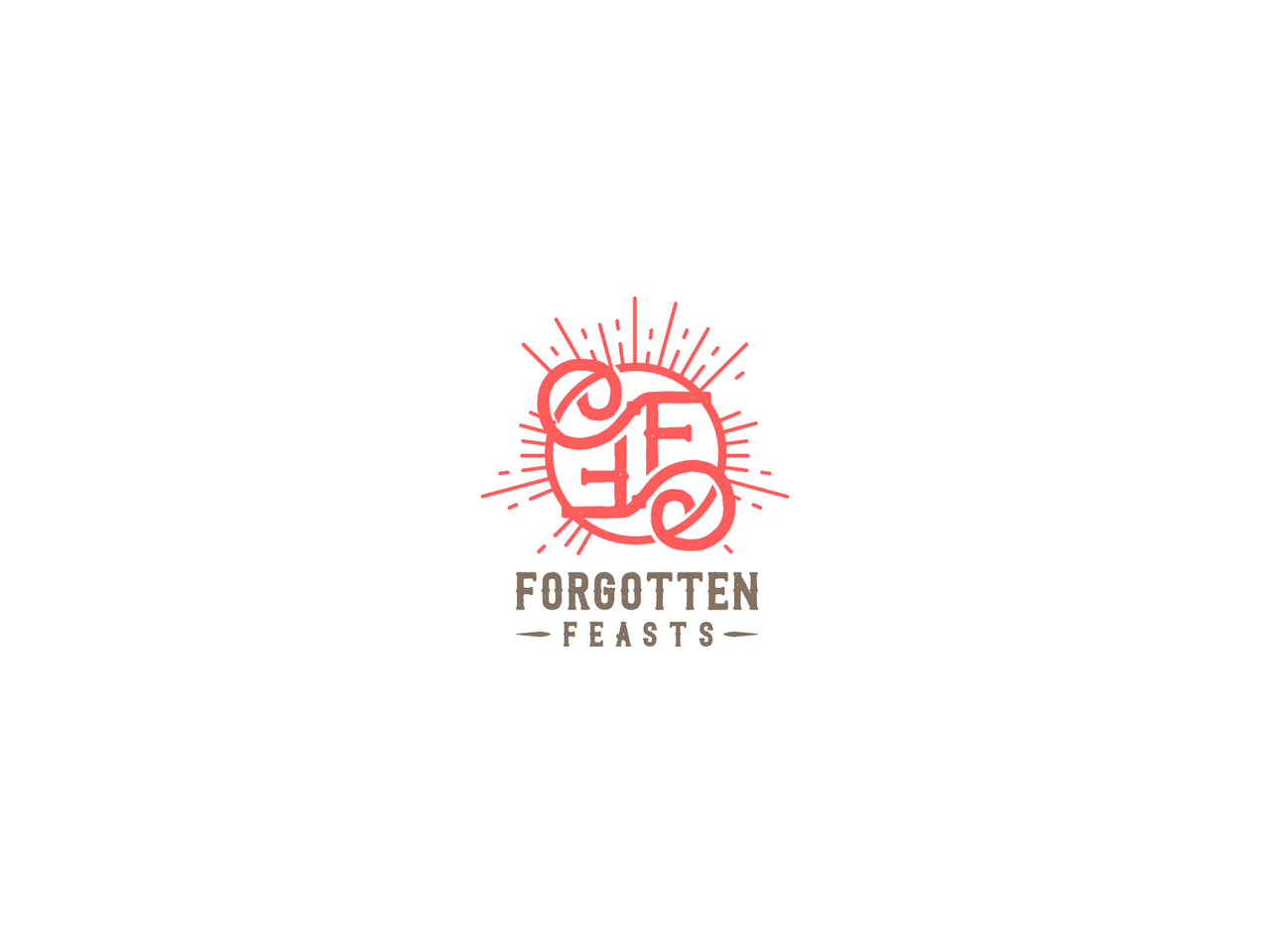 F F red logo design
