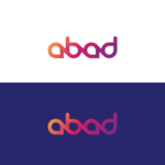 Typographic gradient logo design