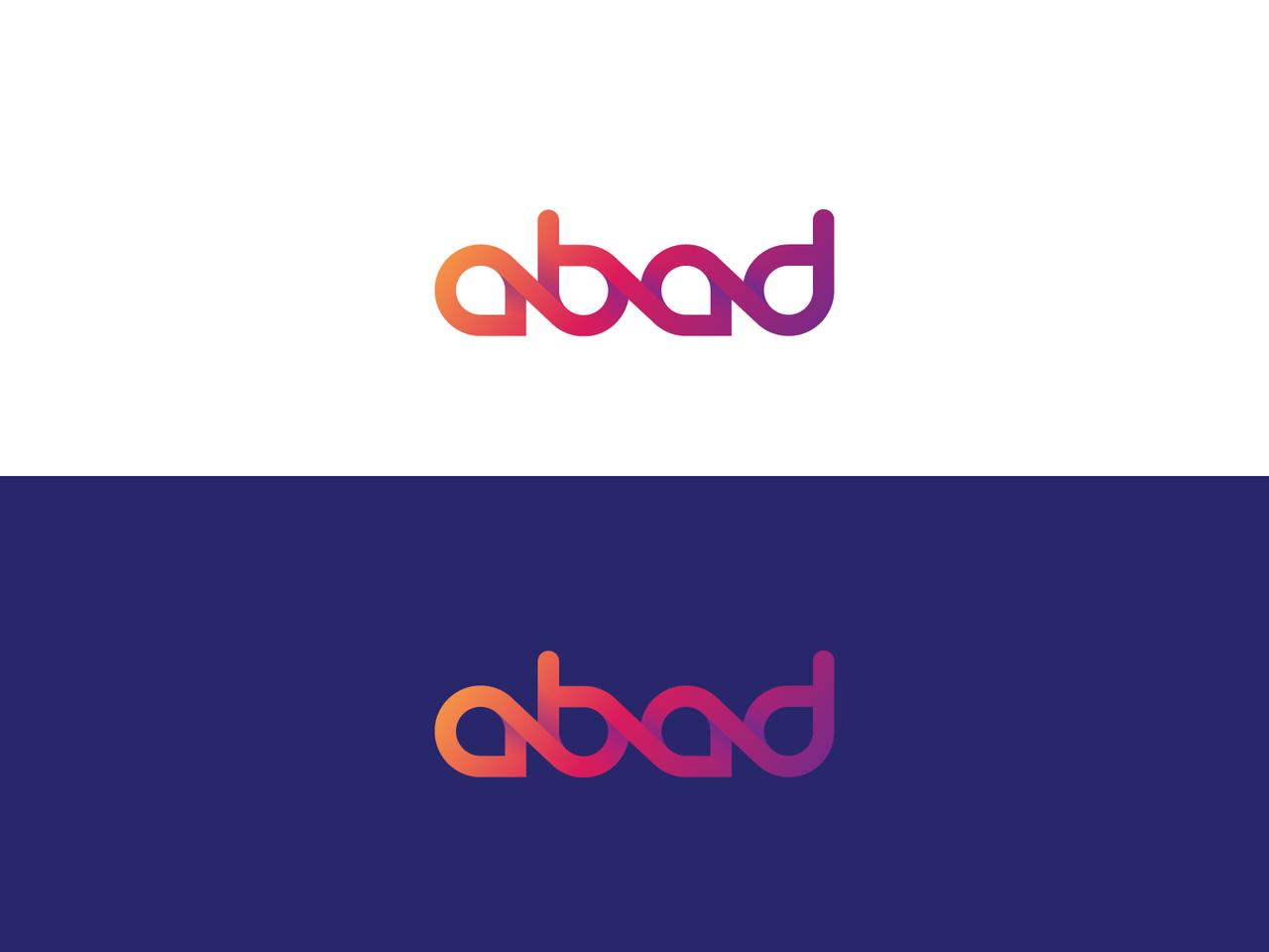 Typographic gradient logo design