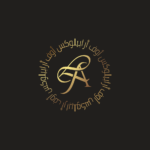 Arabic gold typography logo