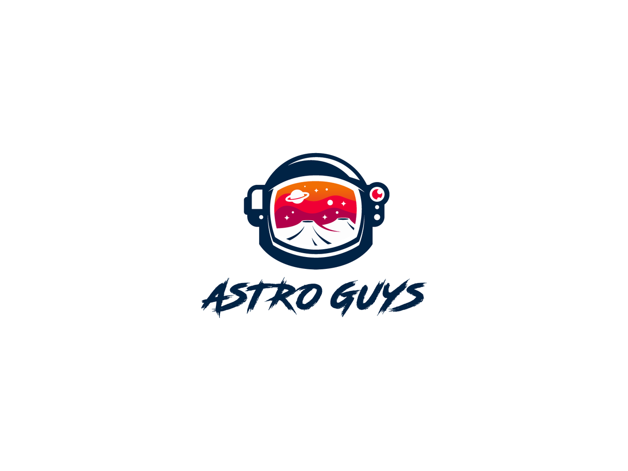 Astronaut helmet logo design