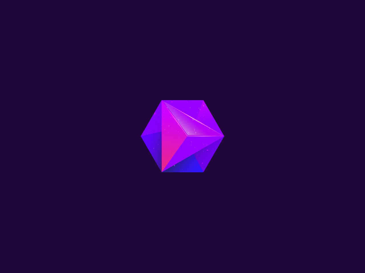 Purple geometric hexagon logo design