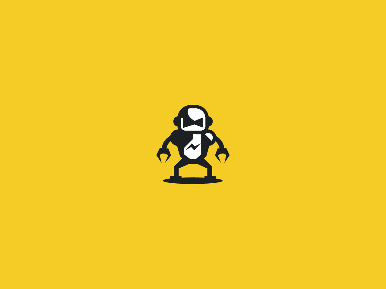 bad robot on a yellow background logo