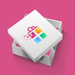Colorful gift logo design