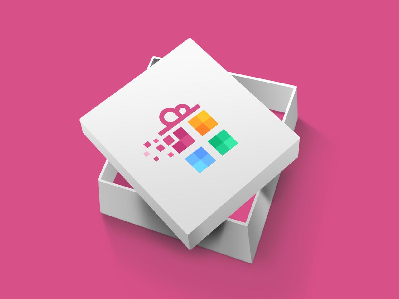 Colorful gift logo design