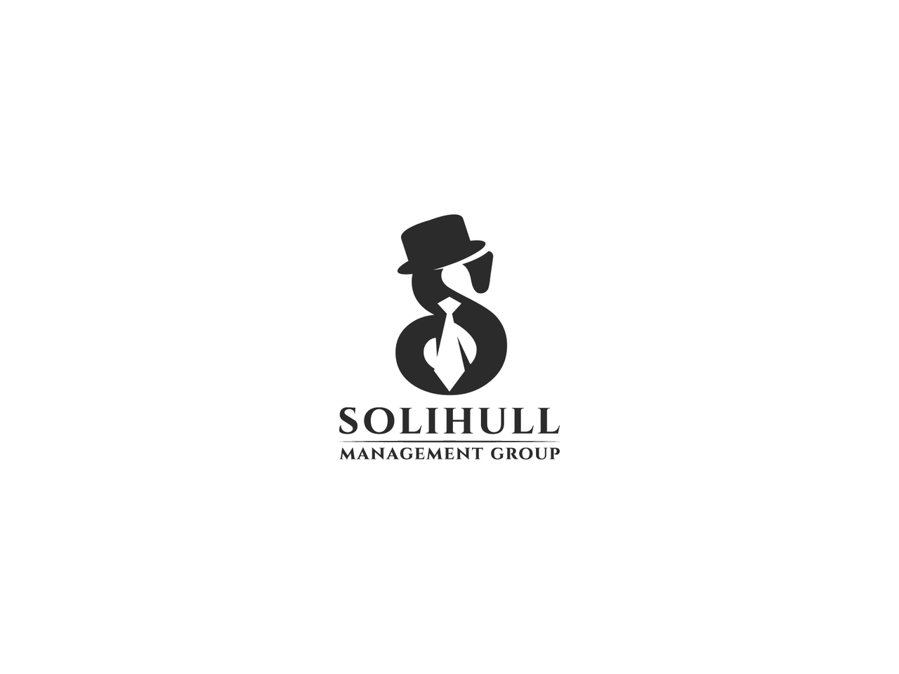S with hat and tie logo