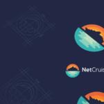 Cruise Ship sea and sunset Logo