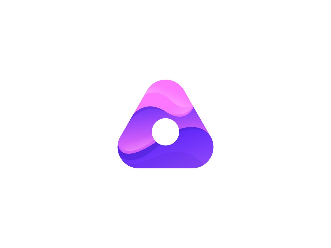 Abstract purple logo