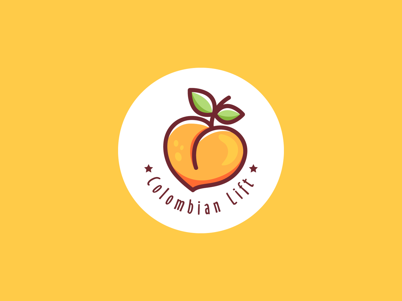 Peach logo design