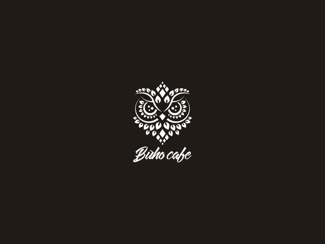 Owl logo design for Buho Cafe
