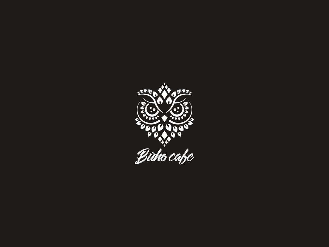 Owl logo design for Buho Cafe