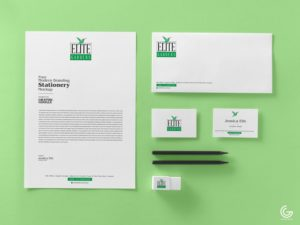 Free Branding Stationery MockUp PSD Template