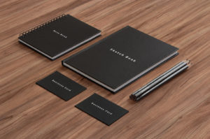 notepad stationery mockup PSD