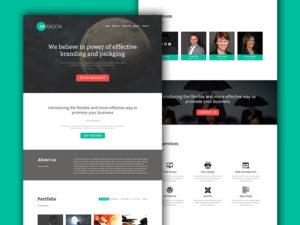 green hexagon web design