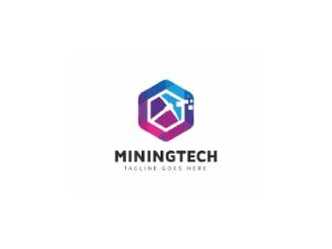 Crypto mining logo design