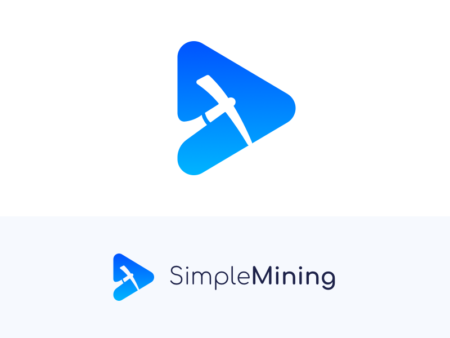 Simple Mining pickaxe logo