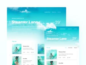 Steamer Lane website design