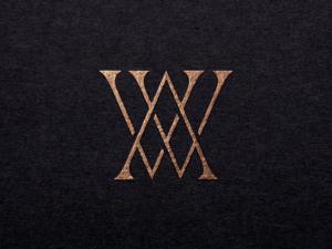A W luxury logo design