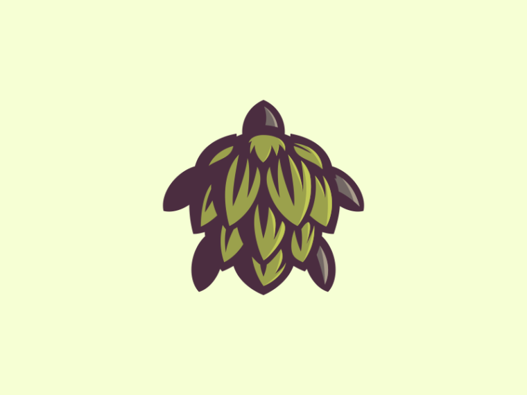 Hop and turtle logo design