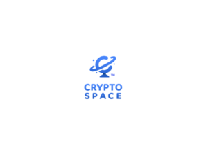 Crypto Space logo blue golbe