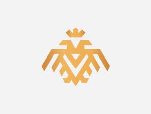eagle double head luxury logo design