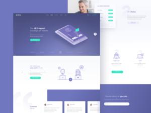 elev.io web design landing page