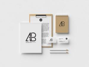 free branding identity stationary mockup psd