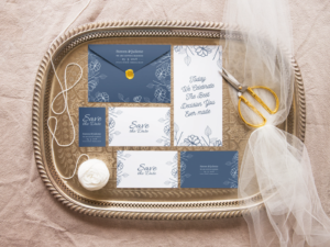 wedding stationery mockup design