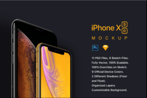 IPhone Xs and iPhone Xr mockup
