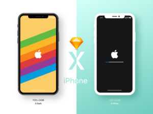 iphone x mockup dark white