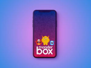 monster box iphone mockup