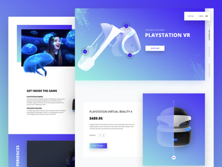 playstation VR web design
