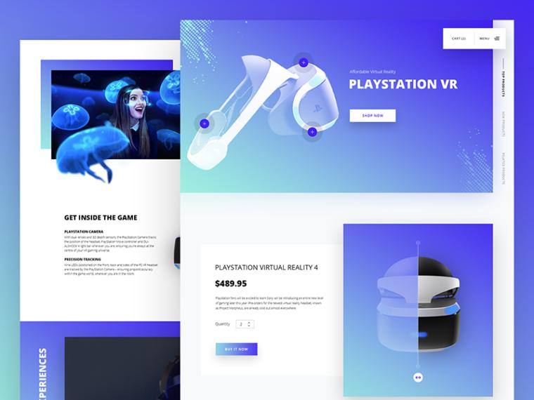 playstation VR web design