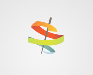 Abstract ribbon snake logo