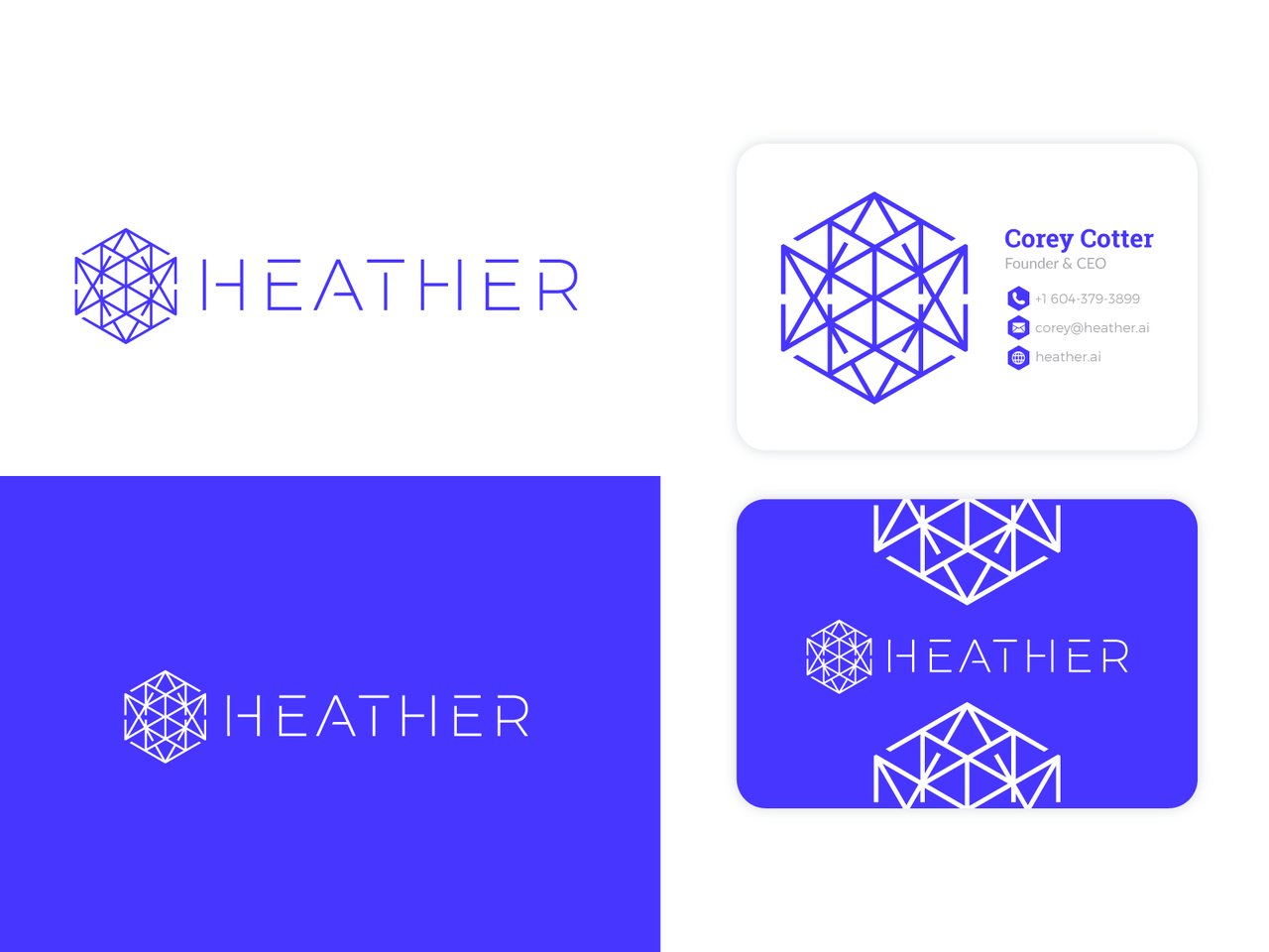 Abstract geometric logo and business card