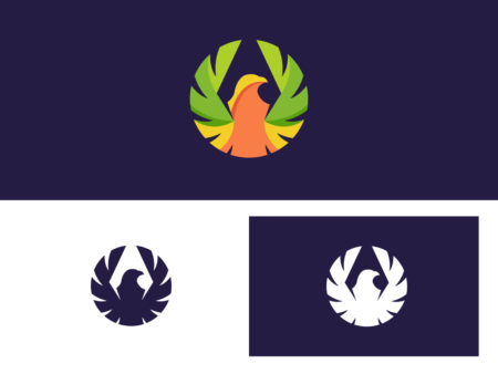 Colorful bird logo design