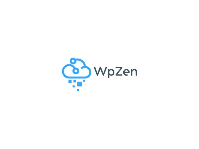 light blue hosting cloud logo design
