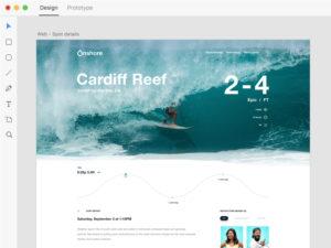 Website design ocean surf